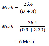 calculating mesh count