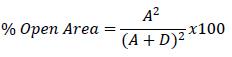 calculating percentage open area
