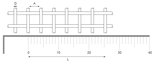 calculating woven wire mesh aperture
