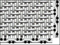 woven mesh - twill weave