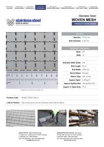 Stainless Stee Product Data Sheet
