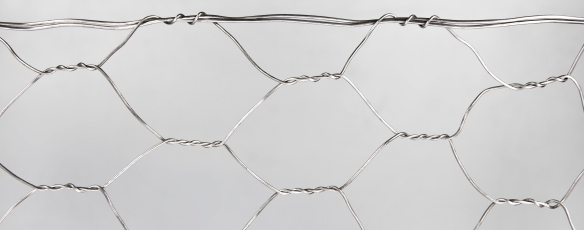 Stainless steel hexagonal netting with double loop