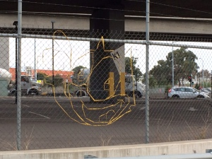 chainlink mesh street art melbourne