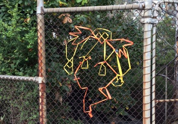 Chianlink mesh urban art in Melbourne
