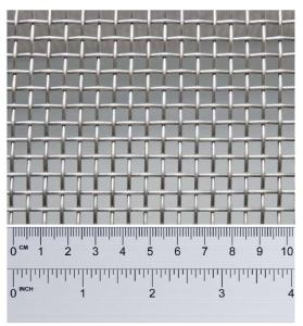 ruler counting stainless steel wires per incch of mesh
