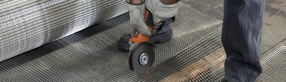 Cutting-stainless-steel-welded-mesh-grinder