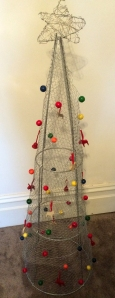 Stainless Steel Hexagonal Netting Christmas Tree